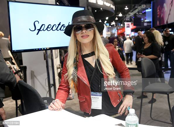 Musician Orianthi attends the 2017 NAMM Show Opening Day at Anaheim Convention Center on January 19 2017 in Anaheim California