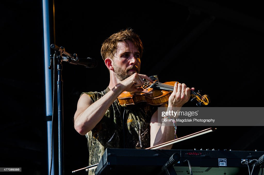 Musician Owen Pallett performing on the main stage during day two of the Bestival music festival at Toronto Island on June 13 2015 in Toronto Canada