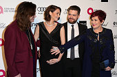 Musician Ozzy Osbourne actress Lisa Osbourne Jack Osbourne and tv personality Sharon Osbourne attend the 23rd Annual Elton John AIDS Foundation's...