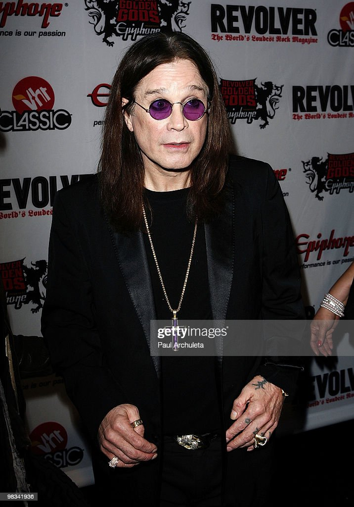 Musician Ozzy Osbourne arrives at the 2nd annual Revolver Golden Gods Awards at Club Nokia on April 8, 2010 in Los Angeles, California.