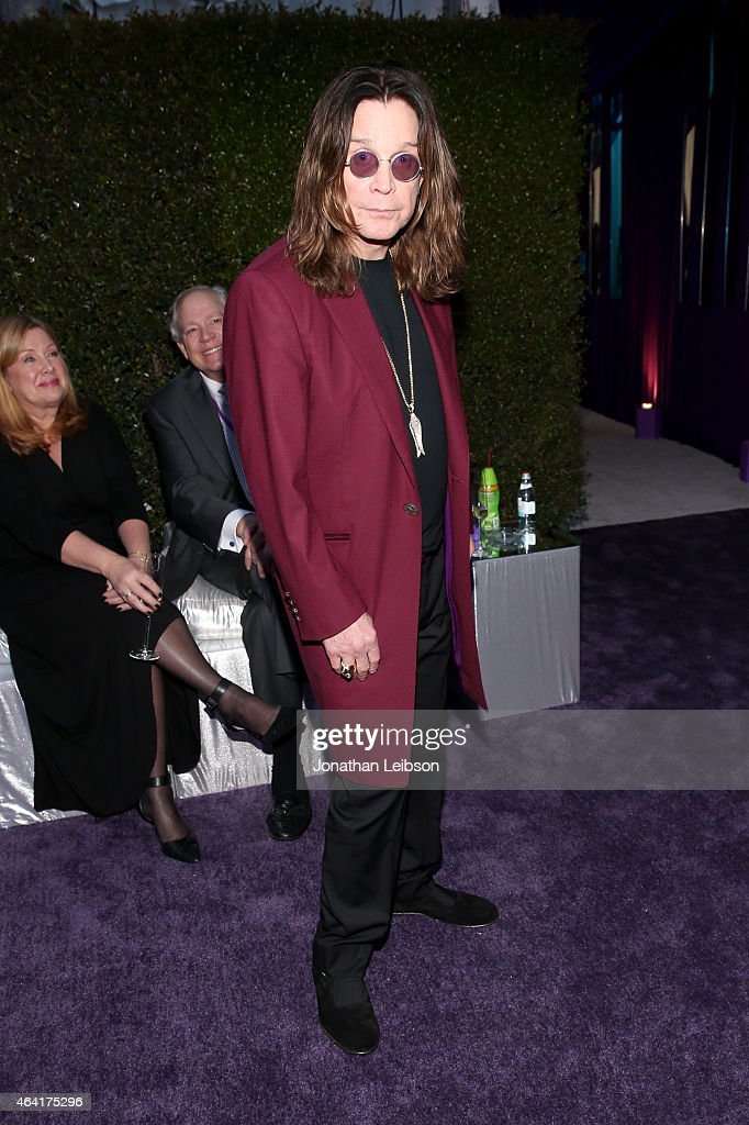 Musician <a gi-track='captionPersonalityLinkClicked' href=/galleries/search?phrase=Ozzy+Osbourne&family=editorial&specificpeople=138608 ng-click='$event.stopPropagation()'>Ozzy Osbourne</a> attends ROCA PATRON TEQUILA at the 23rd Annual Elton John AIDS Foundation Academy Awards Viewing Party on February 22, 2015 in Los Angeles, California.