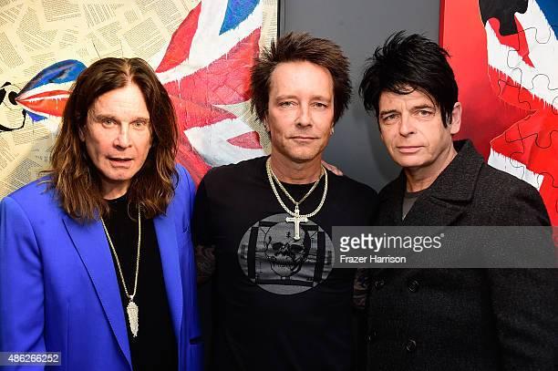 Musician Ozzy Osbourne Musician/artist Billy Morrison and musician Gary Numan attend an VIP Opening Reception For 'DisEase' An Evening Of Fine Art...