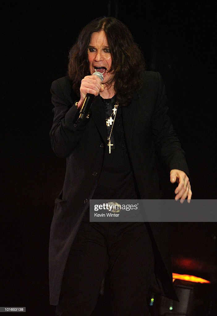 Musician Ozzy Osbourne performs onstage during Spike TV's 4th Annual 'Guys Choice Awards' held at Sony Studios on June 5, 2010 in Los Angeles, California. 'Guys Choice' premieres June 20, 2010 at 10PM ET/PT on Spike.
