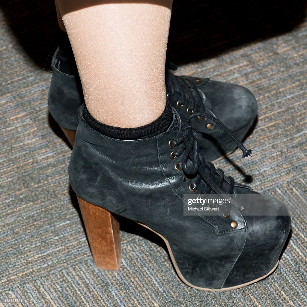 Musician Paloma Faith (shoe detail) attends the 2013 DVF Awards at the United Nations on April 5, 2013 in New York City.