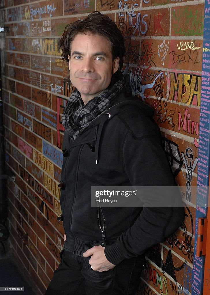 Musician Pat Monahan of Train visits the Music Cafe on January 20, 2008 in Park City, Utah.