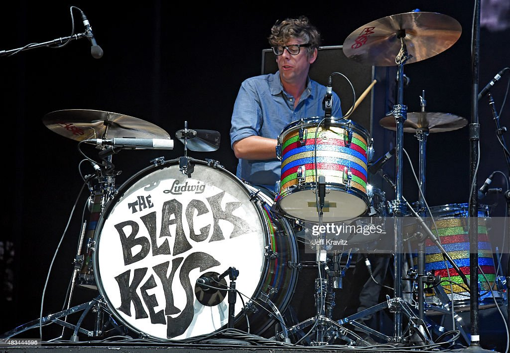 Musician <a gi-track='captionPersonalityLinkClicked' href=/galleries/search?phrase=Patrick+Carney&family=editorial&specificpeople=2234034 ng-click='$event.stopPropagation()'>Patrick Carney</a> of The Black Keys performs at the Lands End Stage during day 2 of the 2015 Outside Lands Music And Arts Festival at Golden Gate Park on August 8, 2015 in San Francisco, California.