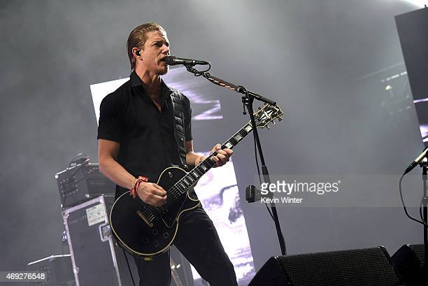 Musician Paul Banks of Interpol performs onstage during day 1 of the 2015 Coachella Valley Music Arts Festival at the Empire Polo Club on April 10...