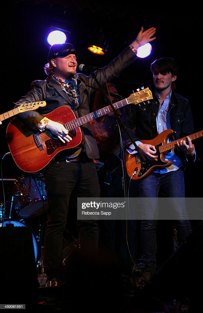 Musician Paul Chesne and Josh Norton of Beeswax performs onstage at El Cid on November 15, 2013 in Los Angeles, California.