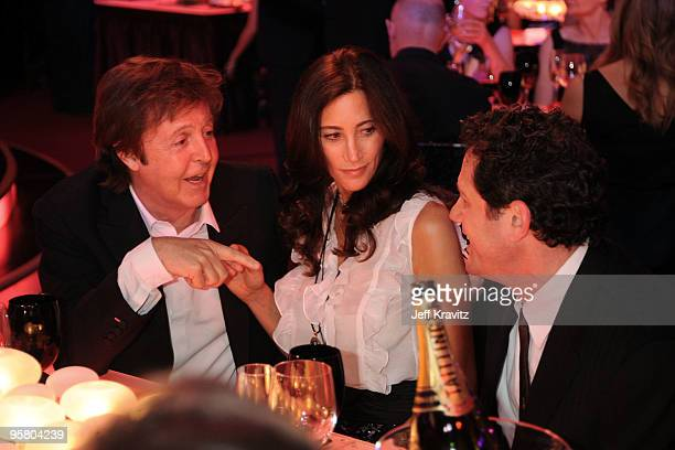 Musician Paul McCartney and Nancy Shevell attend the 15th Annual Critics' Choice Movie Awards held at the Hollywood Palladium on January 15 2010 in...