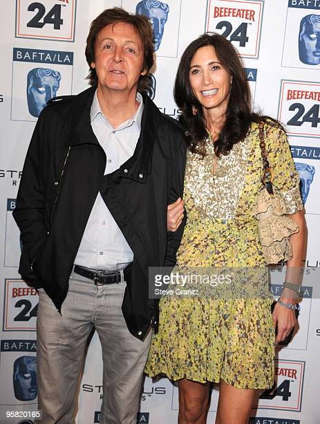 Musician Paul McCartney and Nancy Shevell attends the BAFTA/LA's 16th Annual Awards Season Tea Party at Beverly Hills Hotel on January 16 2010 in...