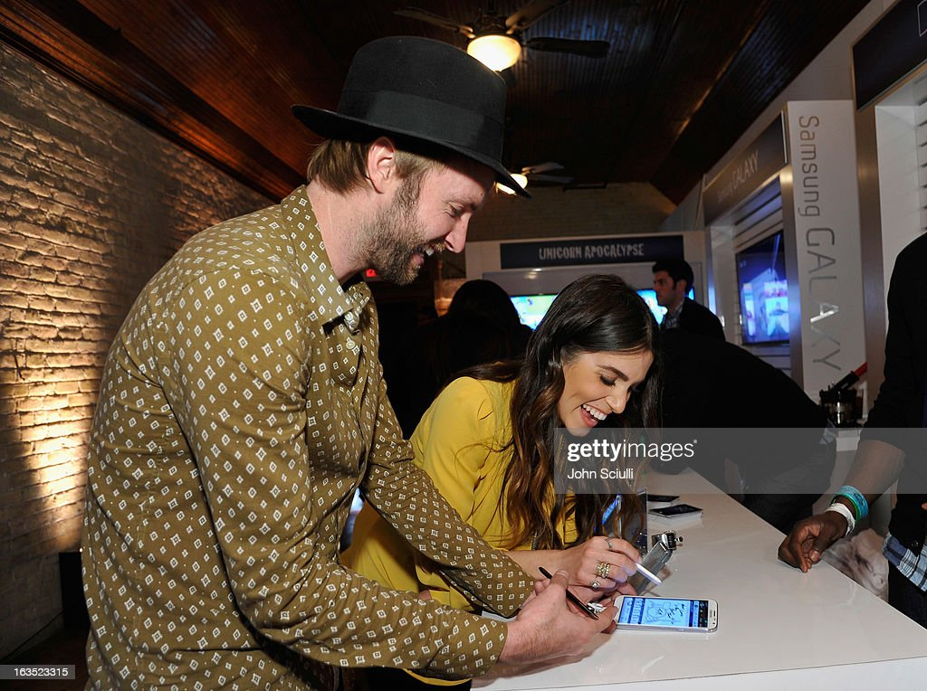 Musician Paul McDonald and actress <a gi-track='captionPersonalityLinkClicked' href=/galleries/search?phrase=Nikki+Reed&family=editorial&specificpeople=220844 ng-click='$event.stopPropagation()'>Nikki Reed</a> attend the 'Snap' cast dinner hosted by The Samsung Galaxy Experience at SXSW 2013 on March 11, 2013 in Austin, Texas.