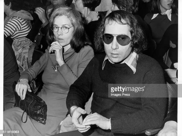 Musician Paul Simon and an unidentified woman photographed in New York City circa 1970s
