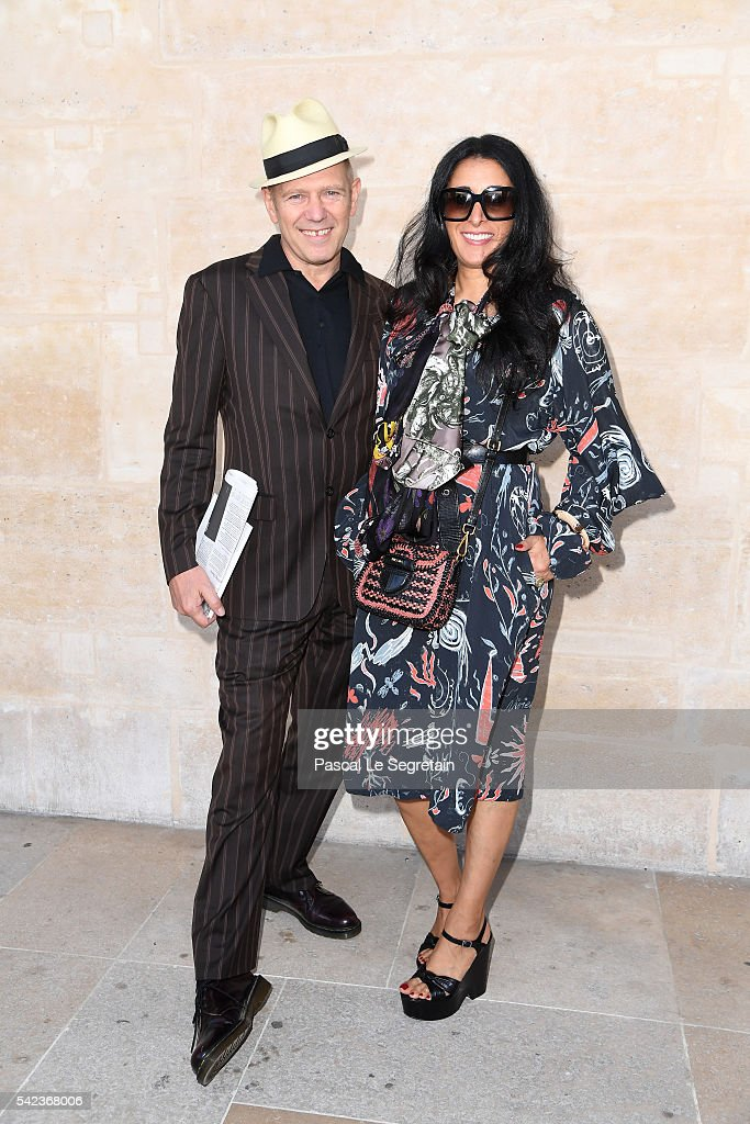 Musician Paul Simonon and a guest attend the Louis Vuitton Menswear Spring/Summer 2017 show as part of Paris Fashion Week on June 23, 2016 in Paris, France.