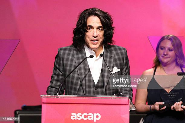 Musician Paul Stanley speaks on stage during the 32nd annual ASCAP Pop Music Awards held at Lowes Hollywood Hotel on April 29 2015 in Hollywood...