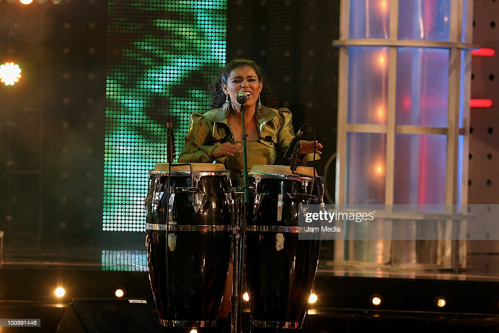 Musician performs during the 9th concert of the reality show 'Second Chance', of TV Azteca, at Churubusco Studies on May 23, 2010 in Mexico City, Mexico.