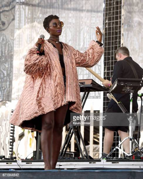 A musician performs with Preservation Hall Jazz Band on the Coachella Stage during day 1 of the 2017 Coachella Valley Music Arts Festival at the...