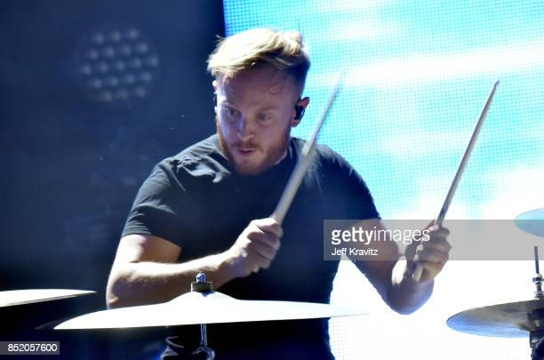 A musician performs with Two Door Cinema Club on Downtown Stage during day 1 of the 2017 Life Is Beautiful Festival on September 22 2017 in Las Vegas...