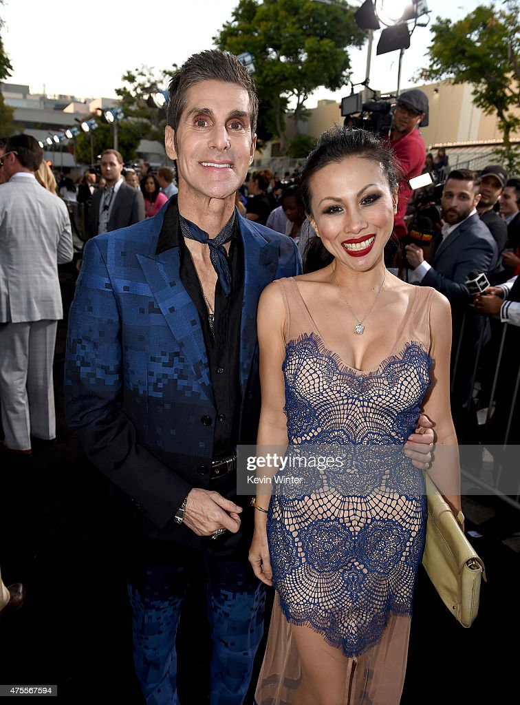 Musician Perry Farrell and Etty Lau Farrell attend the premiere of Warner Bros Pictures' 'Entourage' at Regency Village Theatre on June 1 2015 in...