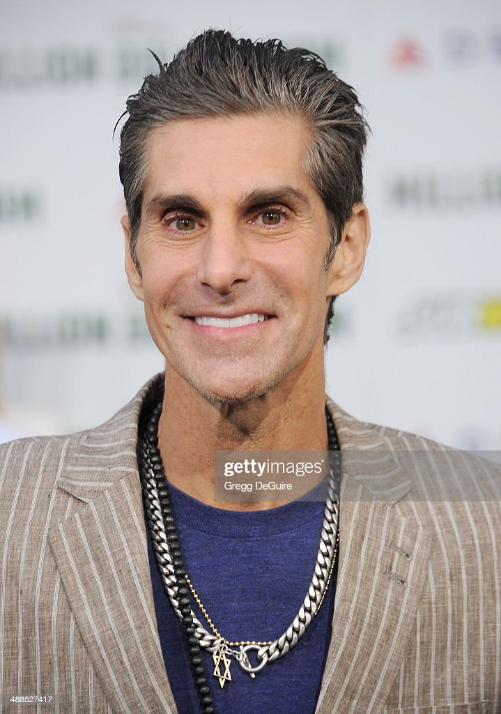 Musician Perry Farrell arrives at the Los Angeles premiere of 'Million Dollar Arm' at the El Capitan Theatre on May 6 2014 in Hollywood California