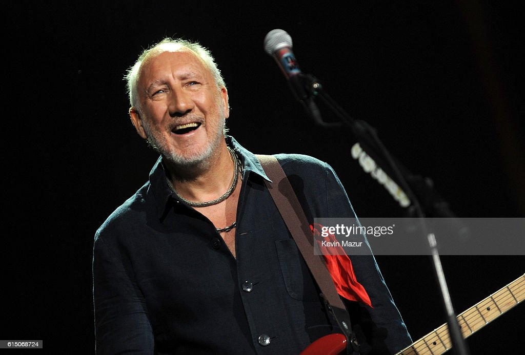 Musician Pete Townshend of The Who performs onstage during Desert Trip at The Empire Polo Club on October 16, 2016 in Indio, California.