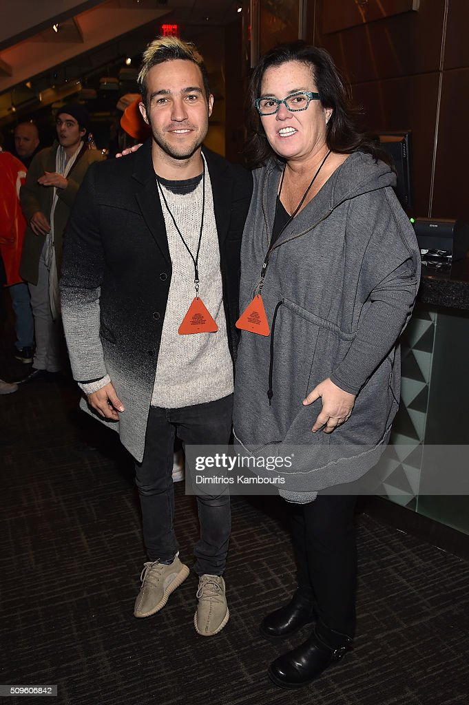 Musician <a gi-track='captionPersonalityLinkClicked' href=/galleries/search?phrase=Pete+Wentz&family=editorial&specificpeople=595892 ng-click='$event.stopPropagation()'>Pete Wentz</a> (L) and comedian <a gi-track='captionPersonalityLinkClicked' href=/galleries/search?phrase=Rosie+O%27Donnell&family=editorial&specificpeople=201730 ng-click='$event.stopPropagation()'>Rosie O'Donnell</a> attend Kanye West Yeezy Season 3 on February 11, 2016 in New York City.