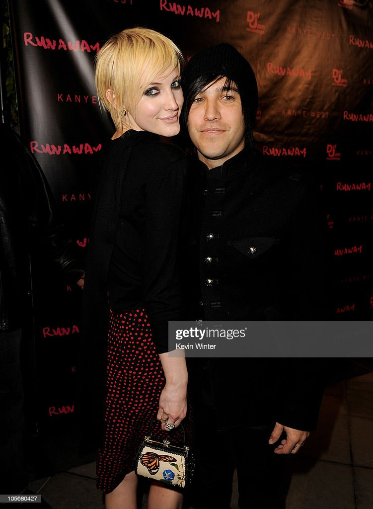 Musician <a gi-track='captionPersonalityLinkClicked' href=/galleries/search?phrase=Pete+Wentz&family=editorial&specificpeople=595892 ng-click='$event.stopPropagation()'>Pete Wentz</a> (R) and his wife <a gi-track='captionPersonalityLinkClicked' href=/galleries/search?phrase=Ashlee+Simpson&family=editorial&specificpeople=201809 ng-click='$event.stopPropagation()'>Ashlee Simpson</a> arrive at the premiere of 'Runaway' at the Harmony Gold Preview House on October 18, 2010 in Los Angeles, California.