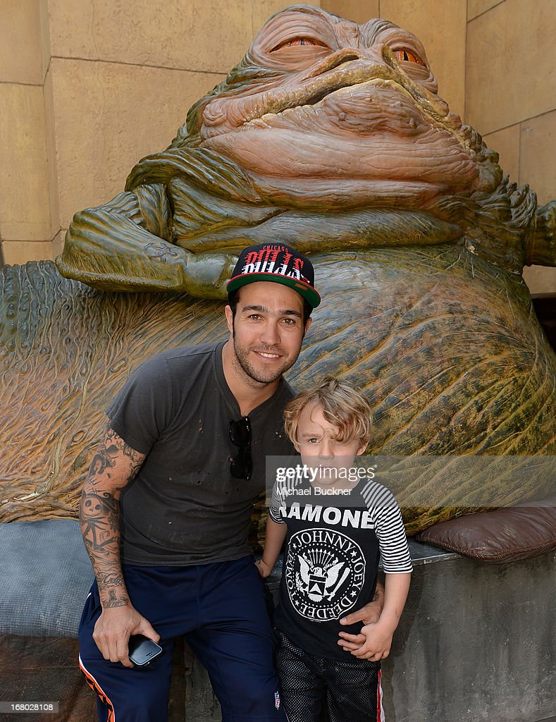 Musician Pete Wentz and son Bronx attend the screening of 'Star Wars Return of the Jedi' during Entertainment Weekly CapeTown Film Festival Presented...