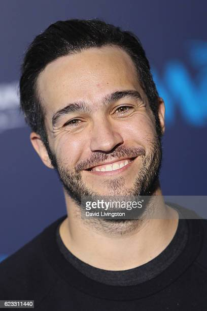 Musician Pete Wentz arrives at the AFI FEST 2016 presented by Audi premiere of Disney's 'Moana' held at the El Capitan Theatre on November 14 2016 in...