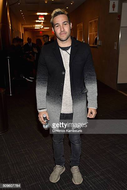 Musician Pete Wentz attends Kanye West Yeezy Season 3 on February 11 2016 in New York City