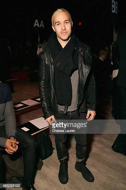 Musician Pete Wentz attends the Nicholas K fashion show during MercedesBenz Fashion Week Fall 2015 at The Pavilion at Lincoln Center on February 12...