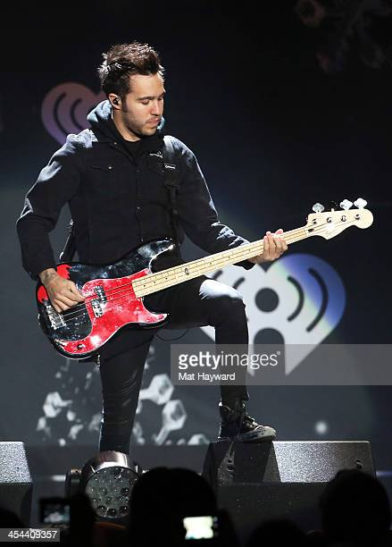 Musician Pete Wentz of Fall Out Boy performs onstage during 1061 KISS FM's Jingle Ball 2013 at Comcast Arena at Everett on December 8 2013 in Seattle...