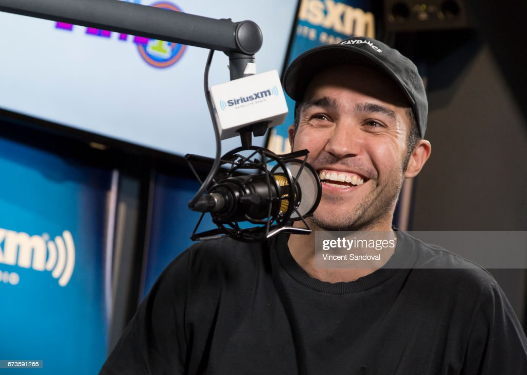 Musician Pete Wentz visits 'Hits 1 In Hollywood' on SiriusXM Hits 1 Channel at The SiriusXM Studios in Los Angeles on April 26, 2017 in Los Angeles, California.