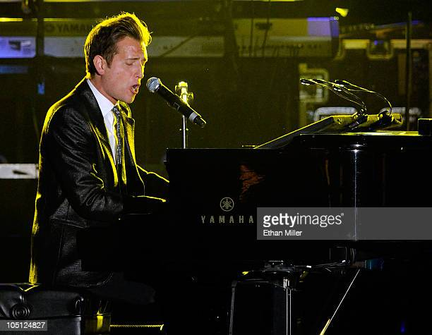 Musician Peter Cincotti performs onstage during Andre Agassi Foundation for Education's 15th Grand Slam for Children benefit concert at the Wynn Las...