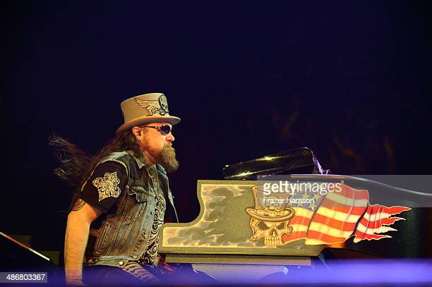 Musician Peter Keys of Lynyrd Skynyrd performs onstage during day 1 of 2014 Stagecoach California's Country Music Festival at the Empire Polo Club on...