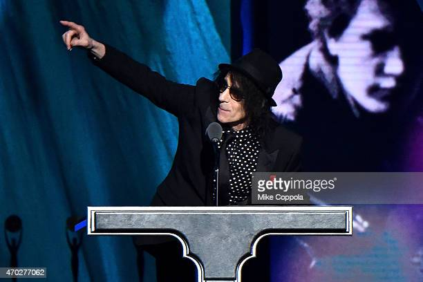 Musician Peter Wolf onstage during the 30th Annual Rock And Roll Hall Of Fame Induction Ceremony at Public Hall on April 18 2015 in Cleveland Ohio