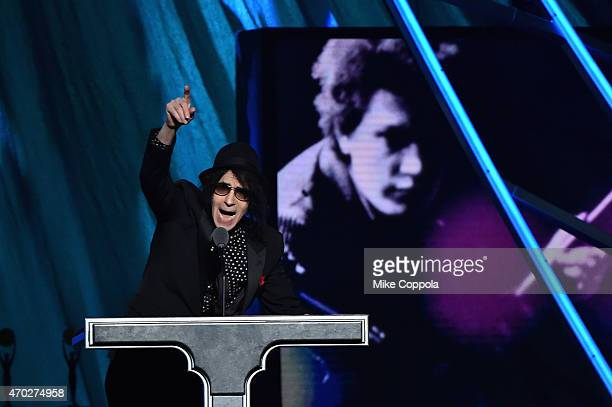 Musician Peter Wolf speaks onstage during the 30th Annual Rock And Roll Hall Of Fame Induction Ceremony at Public Hall on April 18 2015 in Cleveland...