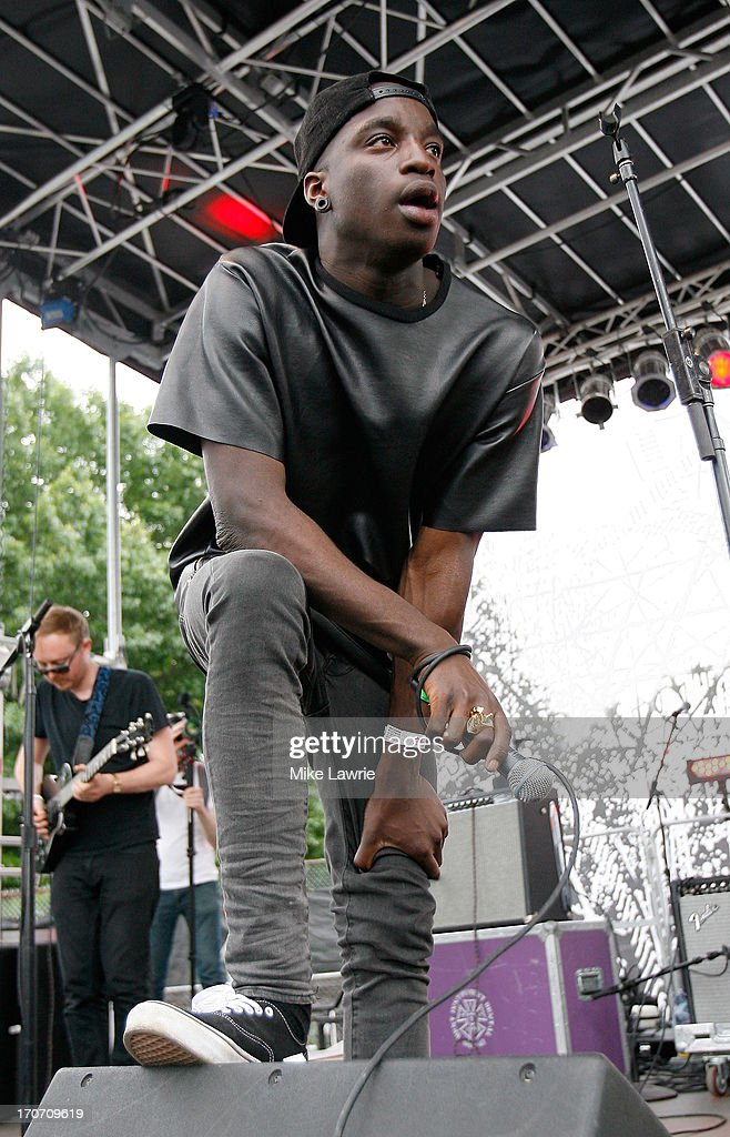 Musician Petite Noir performs during the 2013 Northside Festival at McCarren Park on June 16, 2013 in the Brooklyn borough of New York City.