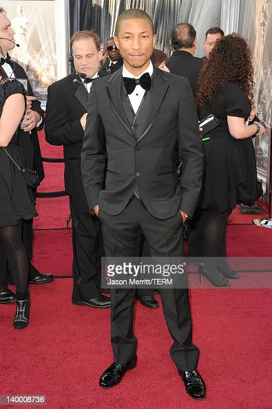 Musician Pharrell Williams arrives at the 84th Annual Academy Awards held at the Hollywood Highland Center on February 26 2012 in Hollywood California