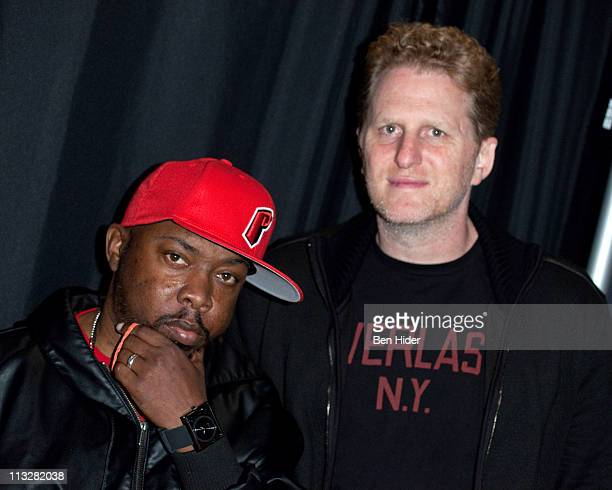 Musician Phife Dawg and Actor/Comedian Michael Rapaport visit the Apple Store Soho on April 29 2011 in New York City