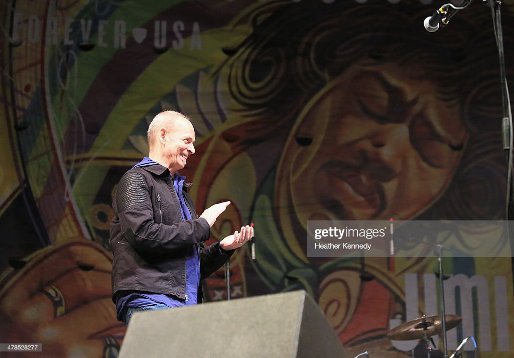 Musician Phil Alvin performs onstage at the USPS Hendrix Stamp Event + Los Lonely Boys during the 2014 SXSW Music, Film + Interactive at Butler Park on March 13, 2014 in Austin, Texas.