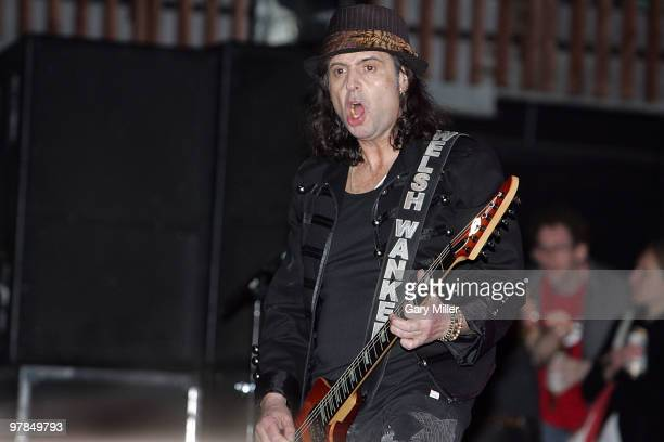 Musician Phil Campbell of Motorhead performs in concert at the Austin Music Hall during the South By Southwest Music Festival on March 17 2010 in...