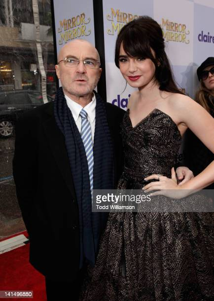 Musician Phil Collins and actress Lily Collins arrive at Relativity Media's 'Mirror Mirror' Los Angeles premiere at Grauman's Chinese Theatre on...