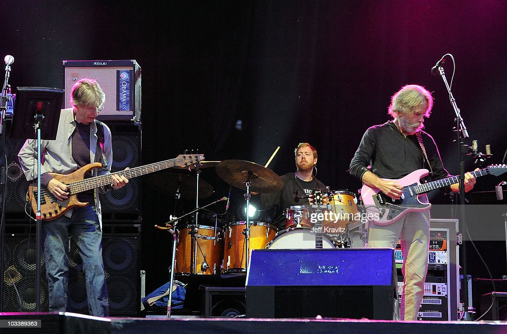 Musician Phil Lesh (L) and Bob Weir perform with Furthur at the 2010 Outside Lands Music and Arts Festival at Golden Gate Park on August 14, 2010 in San Francisco, California.