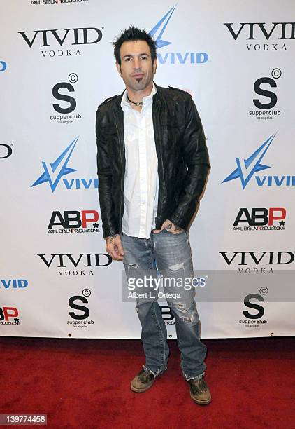Musician Phil Varone arrives for the Premiere Of Vivid Entertainment's 'Star Wars XXX A Porn Parody' held at SupperClub on February 23 2012 in...