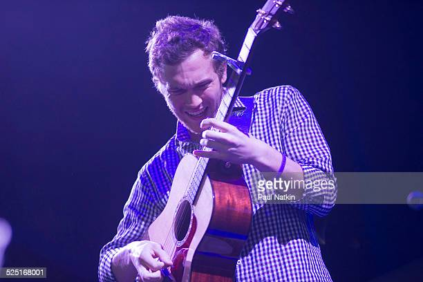 Musician Phillip Phillips performs at the First Midwest Bank Amphitheater Tinley Park Illinois August 9 2013