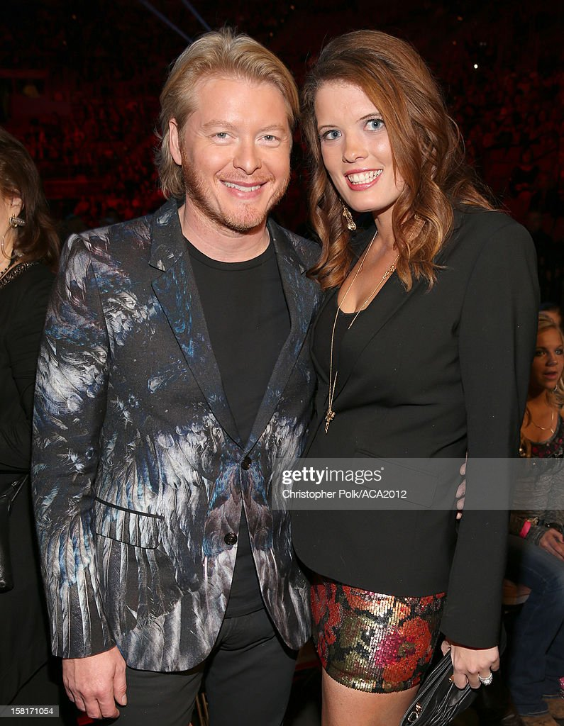 Musician Phillip Sweet (L) of Little Big Town and Rebecca Arthur attend the 2012 American Country Awards at the Mandalay Bay Events Center on December 10, 2012 in Las Vegas, Nevada.