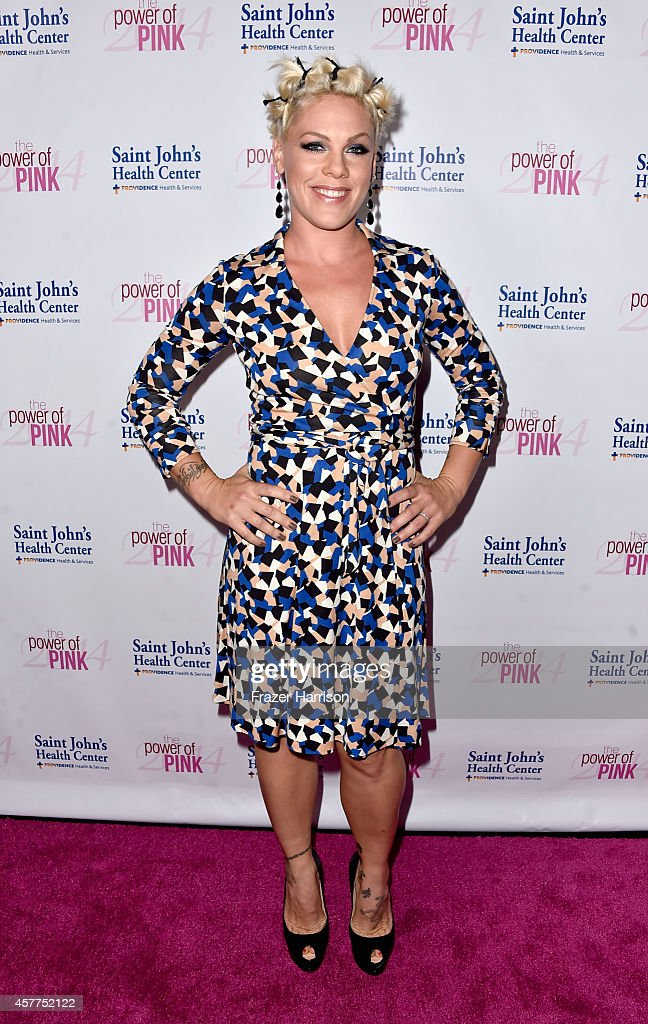 Musician Pink attends Power of Pink 2014 Benefiting the Cancer Prevention Program at Saint John's Health Center at House of Blues Sunset Strip on...