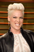 Musician Pink attends the 2014 Vanity Fair Oscar Party hosted by Graydon Carter on March 2 2014 in West Hollywood California