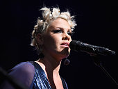 Musician Pink performs at Power of Pink 2014 Benefiting the Cancer Prevention Program at Saint John's Health Center at House of Blues Sunset Strip on...