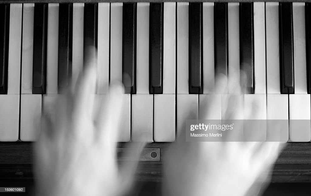 Musician Play Piano : Stock Photo